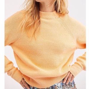 Free People Too Good Pullover Orange Zest